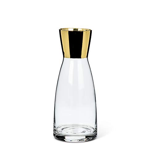 Abbott Collection 27-VINO-03-GOLD Sm Carafe w/Gold Top-6.5