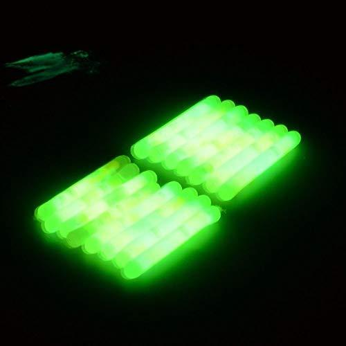 DNA 20 x 4cm Carp Coarse Match Sea Float Tip Fishing Tackle Florescent Rod Tip Night Light Glow Sticks