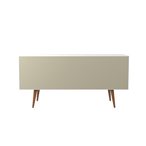 Manhattan Comfort Utopia Collection Mid Century Modern Sideboard Buffet Stand With 4 Bottle Wine Rack, Cabinet and 3 Drawers, Splayed Legs, White by Manhattan Comfort (Image #8)'