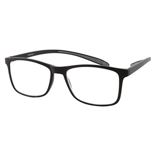 Matte Tri (Neck Hanging Tri-Focal 3 Power Progressive Multifocal Reading Glasses - No Line (Matte Black, 1.50))