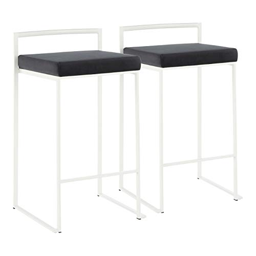 LumiSource Contemporary Stacker Counter Stool - Set of 2
