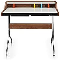 Kardiel Nelson Style Swag Leg Mid-century Modern Desk, Walnut