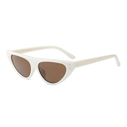 Eye hibote Sunglasses Triangle Small Mujeres Frame Glasses Drop Cat C2 Retro Narrow wx1F0pIIq