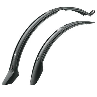 Bicycle Splash Guard - SKS Velo 65 Trekking Front and Rear Snap-On Fender Set, 26/29-Inch