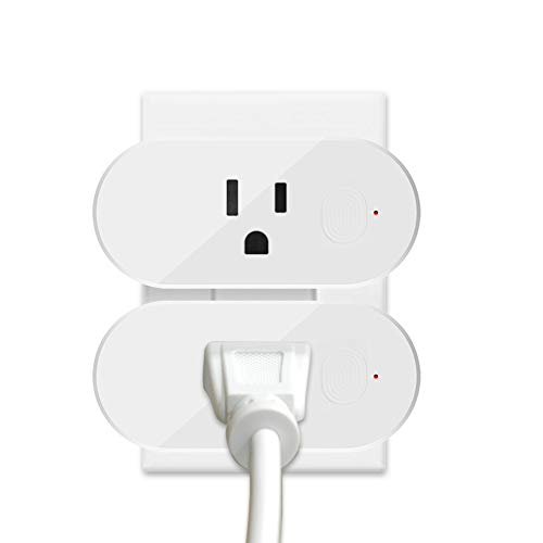 Smart Plug Wifi Outlet Compatible With Alexa, Echo, Google Home and IFTTT, 16A (2Pack)