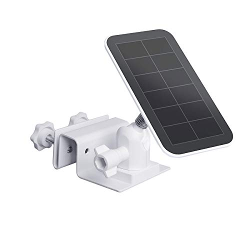 TIUIHU Outdoor Gutter Mount for Arlo Accessory Solar Panel, Arlo Ultra Solar Panel, Blink Solar Panel - Compatible with Any Other Solar Panel with 1/4 Screw - Durable and Simple Install(White,1-Pack)