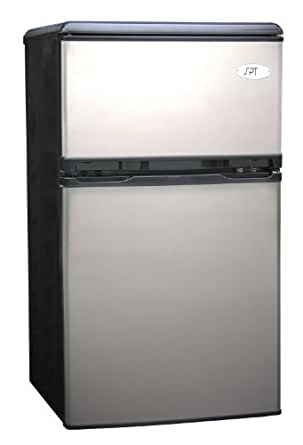Sunpentown RF-320S 3-1/5-Cubic-Foot Double-Door Refrigerator, Stainless