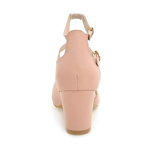 Shoes Ankle Work Pu Round Size Jerald Black Women Toe 43 Ol Pink Strap Square Pumps Big 34 Shoes Logan qt5f0wzB