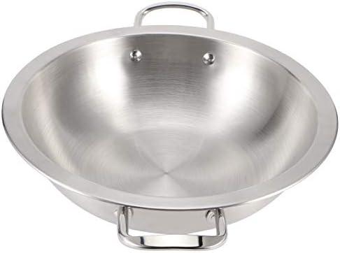 Sutinna Casserole en Argent, poêle antiadhésive en Acier Inoxydable, poignée résistante à la Chaleur, utilisée dans Les cuisinières à Induction, à gaz et en céramique