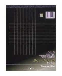 Bulk Boardroom Planning Pads, 8.5''x11'', 4x4 Graph Rule, No Margin, 80 Sheets: Roaring Spring 95289 (12 Graph Planning Pads) by Roaring Spring
