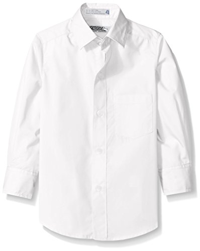 Shirt Genuine Boys (Genuine Boys' Woven Shirt (More Styles Available), Long Sleeve New White, 8)