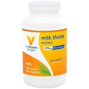 The Vitamin Shoppe Milk Thistle Extract 175mg Capsules, Silymarin Extract for Healthy Liver Support – Seed/Fruit Once Daily Complex for Detoxification Pathways, and Overall Liver Health (300 Capsules)