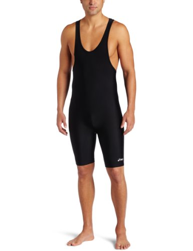 ASICS Men's Solid Modified Singlet, Black, X-Large