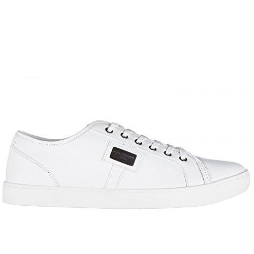 Dolce & Gabbana Scarpe Sneaker Uomo in Pelle CS0930 B6165 80001 Bianco Comprar Comprar Barato Edición Limitada Precio Salida De Baja u7hX4wJ
