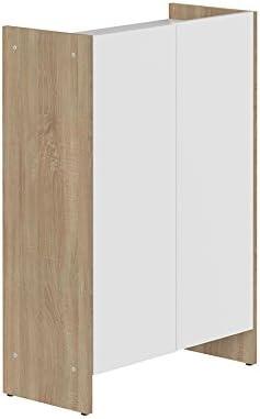 Symbiosis 6210 a0321 a00 contemporáneo Mueble bajo 2 Puertas Roble Natural/Blanco 60 x 28 x 89,5 cm: Amazon.es: Hogar