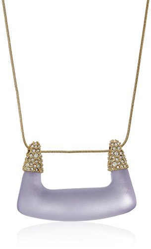 Alexis Bittar Crystal Encrusted Buckle Shape Pendant Necklace, Lilac, One Size ()