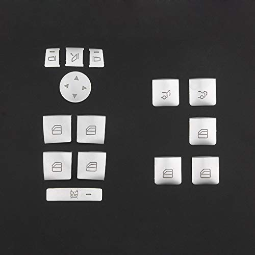 Angelguoguo ABS Car Window Glass Lift Button Trim Cover Sticker for Mercedes Benz A//B//C W212 //GLA//CLA//GLK//GL//ML Class W204 //E