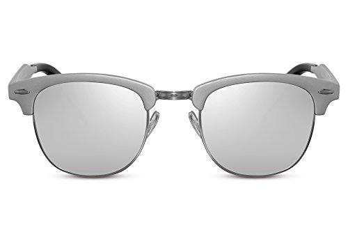 Variación Espejados Hombre Ca Retro Gafas Sol Plata Clubmaster Cheapass Mujer de 019 w8qS6I