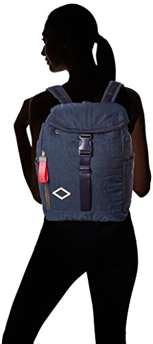 Oilily Damen Spell Backpack Mvf Rucksack, 14.5x34.5x26 cm Blau (Dark Blue)