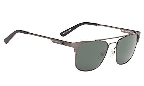 Spy Optic Unisex Westport Polarized Sunglasses Gunmetal / Happy Gray Green - Spy Gunmetal Sunglasses