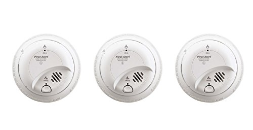 First Alert BRK SC-9120B gJnXgb Hardwired Smoke and Carbon Monoxide Alarm with Battery Backup, 3 Units For Sale