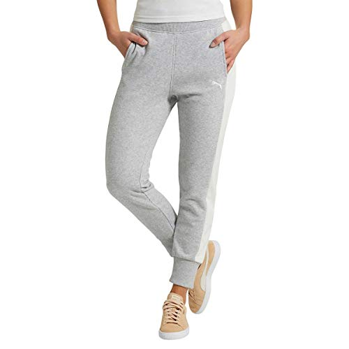 PUMA Women's Sweat Jogger Pants (Light Grey Heather, Large) (Wholesale Men Clothing)