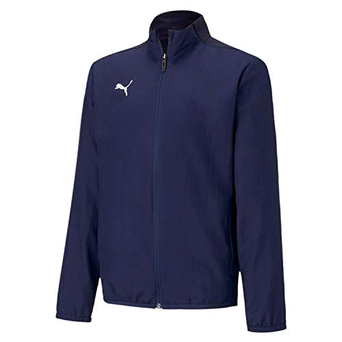 Puma teamGOAL 23 Sideline Jacket Jr Veste De Survêtement Enfant Peacoat/Puma New Navy FR : Taille Unique (Taille Fabricant : 176)