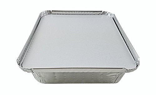 "1 1/2 lb Oblong ""Shallow"" Take-Out Food Storage Container w/Board Lid (50 pack)"