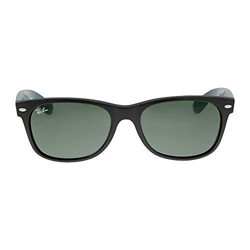Ray-Ban-RB2132-New-Wayfarer-Non-Polarized-Sunglasses-Matte-Black-Green-55-mm