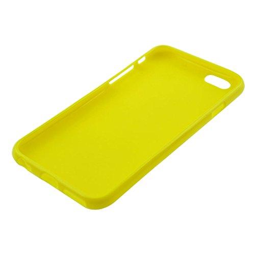 Phone case & Hülle Für iPhone 6 Plus / 6S Plus, weißer und bunter Punktmuster glatter TPU Fall ( Size : Yellow )