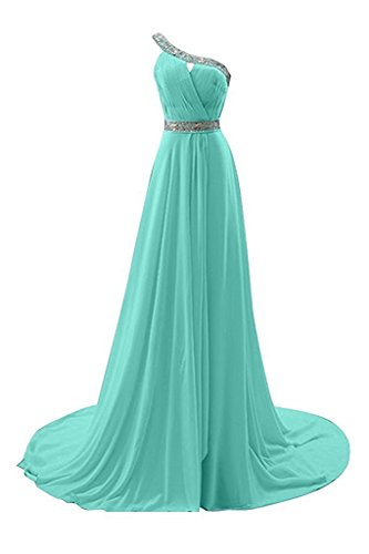 Buy blue beaded one shoulder dress - 8