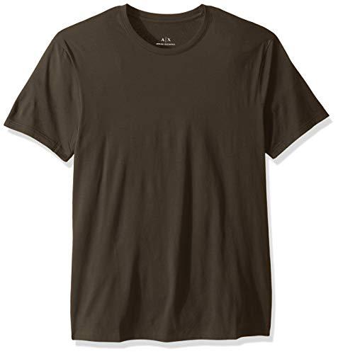 A|X Armani Exchange Men's Pima Cotton Jersey Short Sleeve Tshirt, peat, XL - Green Mens T-shirts Armani