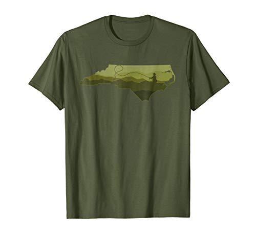 - Fly Fishing North Carolina Blue Ridge Trout Fishing T-shirt