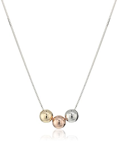 14k-Italian-White-Gold-Three-Spherical-Balls-Adjustable-Necklace-16-2-Extender