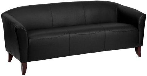 Flash Furniture 111-3-BK-GG Hercules Imperial Series Leather Sofa, Black/Cherry