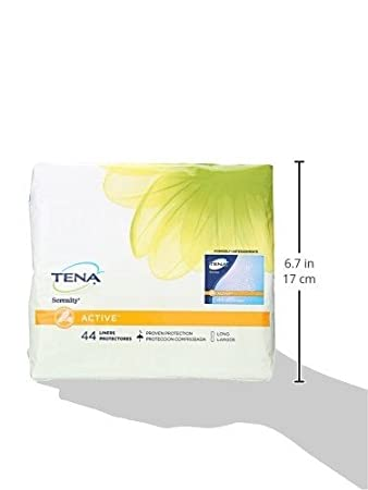 Amazon.com: Tena Incontinence Liners For Women, Long, 44 Count: Health & Personal Care