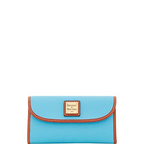 Dooney & Bourke Pebble Grain Continental Clutch Wallet, Sky - Grain Sky Blue
