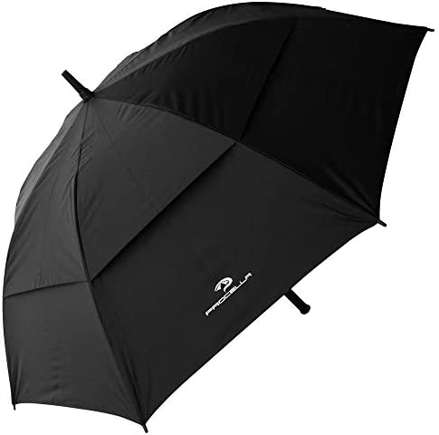 PROCELLA Golf Umbrella UV Protection, Windproof, Waterproof – UPF 50+ Sun Umbrella for Walking, Golf and Sports – Superior Heavy Duty Automatic UV Blocker Umbrella – Matching Carrying Case Sleeve