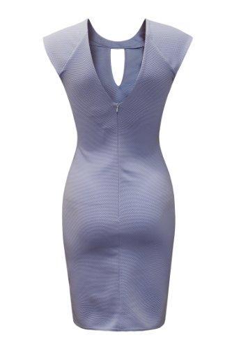 Lib Celebrity Pastel Nadine D1545 Bodycon Blue Ad con vestido cuello estilo cortado cadena dw1qCRU