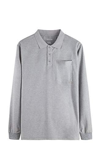 MOHEEN Men's Long Sleeve Moisture Wicking Performance Golf Polo Shirt ()
