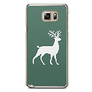 Pixel Rouder Samsung Galaxy Note 5 Transparent Edge Case - Christmas Collection