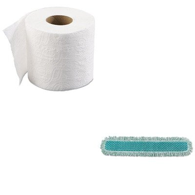 KITBWK6145RCPQ438 - Value Kit - 36quot; Microfiber Dust Pad with Fringe (RCPQ438) and Boardwalk 6145 Two-Ply Bathroom Tissue (BWK6145) by Unknown