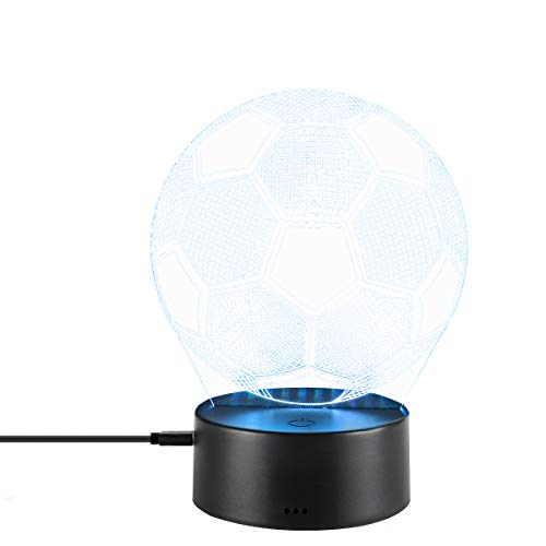 3D Night Led Lamp Optical Illusion Soccer Smart Touch Button Light 7 Color Changing Home Decoration Table Lantern for Kid Gift (Football) by E-lec