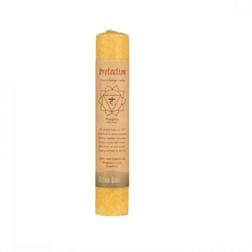 Aloha Bay Chakra Energy Pillar Candle, Protection, (Aloha Lounge)
