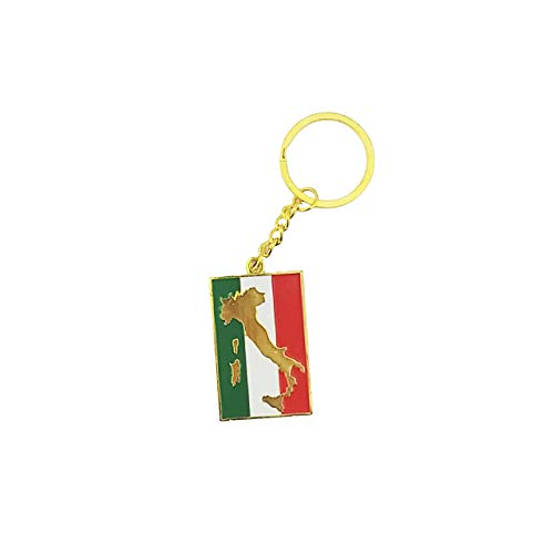 (Country Shape Flag Metal Keychain (Italy))