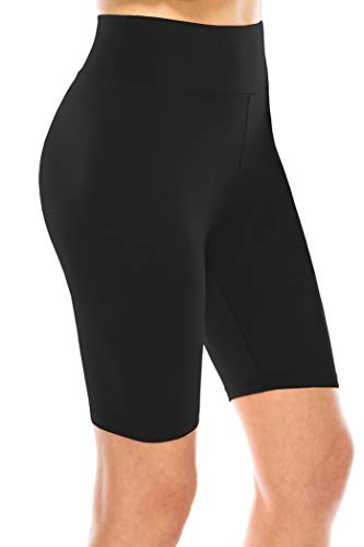ALWAYS Bike Shorts Women Leggings - High Waisted Buttery Premium Soft Stretch Workout Yoga Running Gym Pants Black One Size