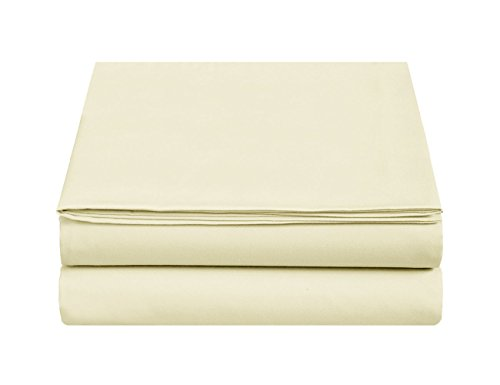 Micro Flannel Sheet Set-Lightweight & Soft Bedding Sheet , Hypoallergenic , Ultra Comfortable & Luxurious and Warm 4-Piece Bed Sheet Set by Marquess(Twin XL , Cream)