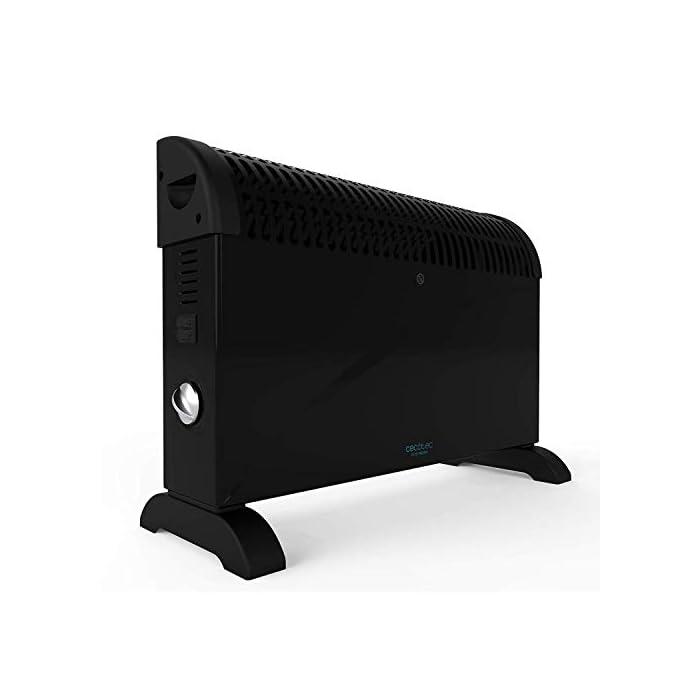 31lKZBu6 uL Convector con gran potencía de 2000 w; adecuado para cada situación, cuenta con verticaldesign, que dota al producto de gran estabilidad, ligereza, tamaño reducido y buena manejabilidad Termostato regulable con tres niveles de potencía : eco (750 w), media (1250 w) y máxima (2000 w) Su tecnología onlysilence permite que puedas disfrutar de un ambiente agradable con el máximo silencio y confort; protección contra sobrecalentamiento overprotect system y sistema autooff en el que cuando se sobrecalienta se detiene automáticamente para evitar daños tanto en el propio calefactor como en la estancia