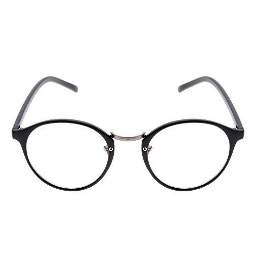 Baguet Vintage Plano Optical Glasses Non-Prescription Eyeglasses Frame with Clear - Plano Lenses