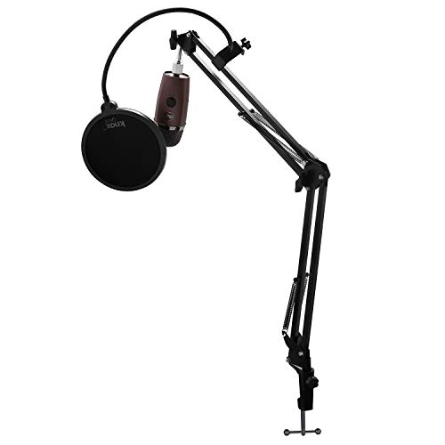 Blue Microphones Yeti Nano USB Microphone (Red Onyx) with Knox Gear Studio Stand and Pop Filter